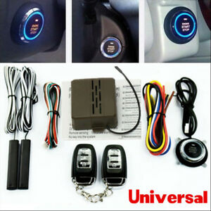 Universal Car Alarm System Secure Keyless Entry Push Button Remote Engine Start