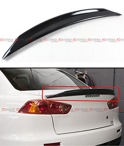 For 2008 2017 Mitsubishi Lancer Evo X 10 Duckbill Gloss Black Trunk Spoiler Wing