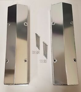 Sbc Small Block Chevy Tall Fabricated Aluminum Valve Covers 283 305 350 Polished