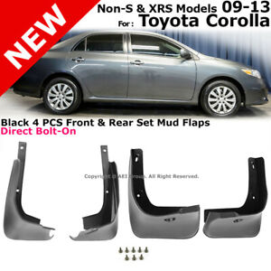 Splash Guards Full Set Front Rear 2009 2013 Toyota Corolla Mud Flaps