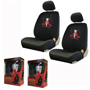 New Red Dress Betty Boop Skyline Front Pair Low Back Car Seat Covers