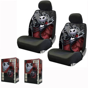 New Nightmare Before Christmas Jack Ghost Front Pair Low Back Car Seat Covers