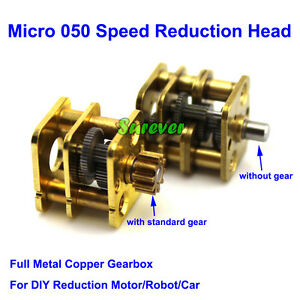 Micro Metal Copper Gear Reduction Head Mini Gearbox For 050 Dc Motor Diy Robot
