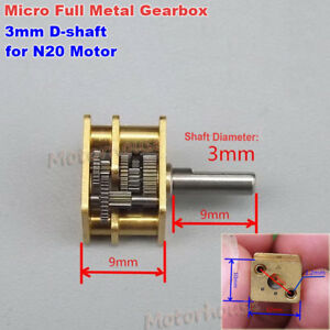 Micro Full Metal Copper Reduction Head Mini Gearbox Diy N20 Dc Gear Motor Robot