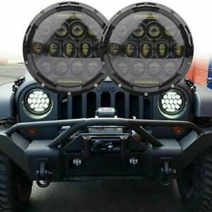 2x 7 Round 150w Total Led Headlights Hi lo 97 16 For Jeep Jk Tj Lj Wrangler