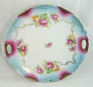 Victorian Plate Floral Shabby Chic Country Cottage Farmhouse Decor 9 75