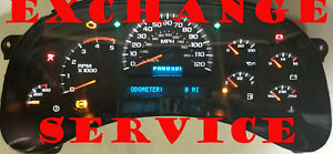 2003 2007 Gmc Sierra Chevy Silverado Instrument Cluster Exchange 15114652