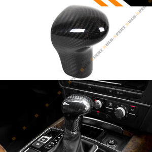 For 2013 16 Audi A4 A5 A6 Q5 Q7 Add on Real Carbon Fiber Shift Gear Knob Cover