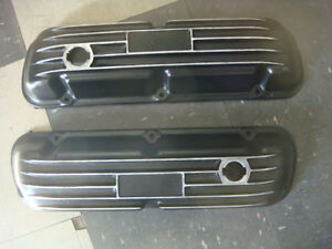Cal Custom Style Ford Mustang Falcon 260 289 302 Finned Aluminum Valve Covers