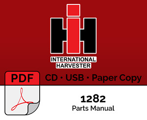 International Harvester Tc 193 Parts Manual 82 Series 1282 Lawn Tractor