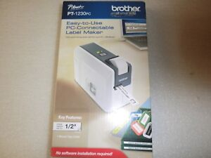 Brother P touch Pt 1230pc Electronic Label Maker System New In Retail Box