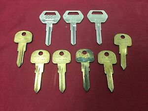 Saab Fiat By Curtis Automotive Key Blanks Set Of 9 Locksmith