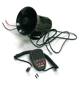 Car Warning Alarm Siren Horn Police Fire Loud Speaker Pa Mic System 7 Sound Tone