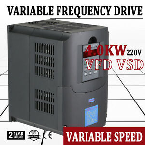 4 0kw 5hp 220vac Variable Frequency Drive Inverter Vfd Vsd Local