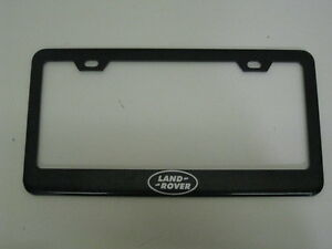 Land Rover Logo Range Lr3 Lr2 Evoque Black Metal License Plate Frame