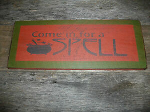 Primitive Country Home Decor Fall Distressed Wood Sign 14x6