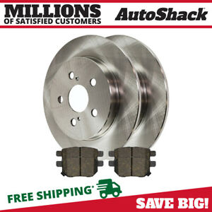 Rear 2 New Brake Rotors 4 Ceramic Brake Pad Fits 2010 2012 2013 Toyota Prius