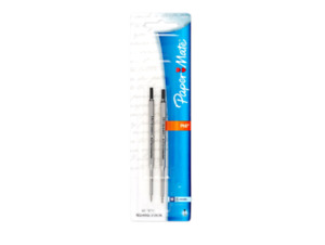 2 Pc Paper Mate Lubriglide Ink Refill Set For Phd Ultra Ballpoint Pens Black