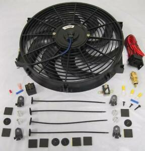 14 Universal S blade Electric Radiator Cooling Fan 210 Thermostat Relay Kit
