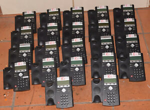 Polycom Soundpoint Ip 335 Ip335 Lot Of 20 Voip Telephones W 20 Handsets 2