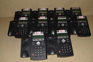 Polycom Soundpoint Ip 335 Ip335 Lot Of 10 Voip Telephones W 10 Handsets 5
