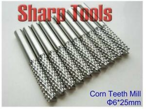 5pcs 6x25mm Pcb Carbide Cutting Tools Endmills Power Mdf Boards Drills