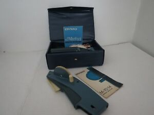Dymo M 14 And M 6 Tapewriter Label Maker With Labels Vintage Includes Case