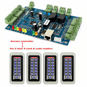 Generic Wiegand Tcp ip Network Entry Double Access Controller Panels For 2 Door