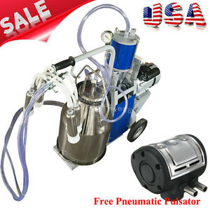 Usa Electric Milking Machine For Cows Bucket Stainless Steel pneumatic Pulsator