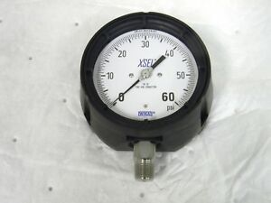 Wika Process Pressure Gauge 0 60 Psi Dry Filled 4 5 Dial 1 2 Male Npt 9834826