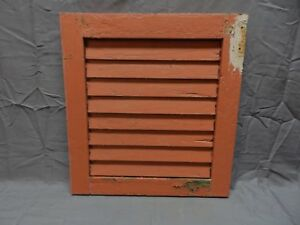1 Antique House Window Wood Louvered Shutter 18x17 Shabby Old Vtg Chic 255 18p