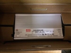 Mean Well Hlg 600h 24b Ac To Dc Led Power Supply 24 Volts 25 Amps 600 Watts