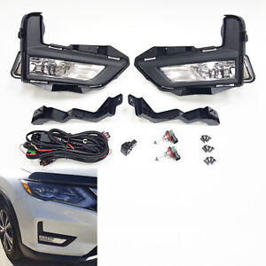 Clean Lens Fog Light For 2017 2018 Nissan Rogue S Sl Sv With Bezel Wires Switch