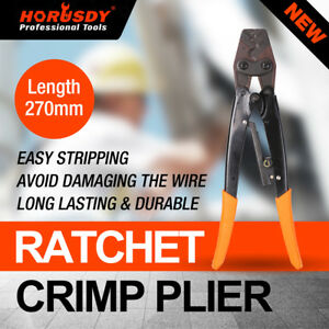 11 Crimp Ratchet Wire Terminals Crimper Crimping Pliers 1 25 16mm Tool Cable