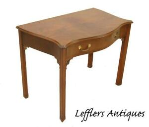 Southampton Mahogany Single Drawer Writing Desk Chippendale Details