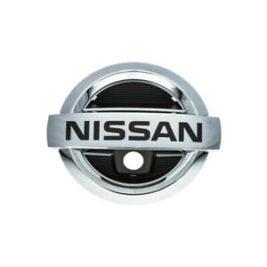 2011 2013 Nissan Rogue Front Chrome Grille Emblem W Mount For Camera Oem New