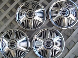 1965 65 Ford Mustang Four Hubcaps Wheelcovers Center Caps Fomoco Antique Vintage