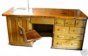 Rare Antique Industrial E H Sheldon Oak Desk Laboratory Chemistry Winery Table