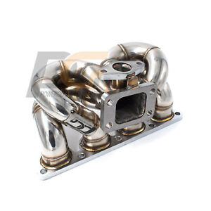 Turbo Manifold T3 Ram Horn 38mm Wg For Honda Civic Crx Del Sol D15 D16 Sohc Vtec
