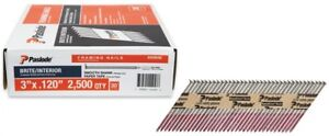 Paper Tape Framing Nails 3 X 0 120 Gauge 30 Degree Brite Smooth Shank 2500 Box