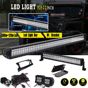 22 52 4 Pods Led Light Bar Mounting Bracket Kit For 07 16 Jk Jeep Wrangler