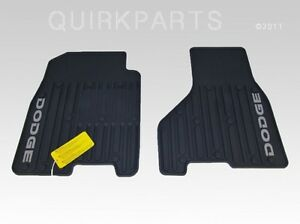 2009 2010 Dodge Ram 1500 2500 3500 Slush Mats Front Set Mopar Genuine Oem New