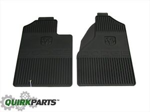 2002 2005 Dodge Ram 1500 2500 3500 Slush Mats Front Set Dark Slate Oem Mopar New