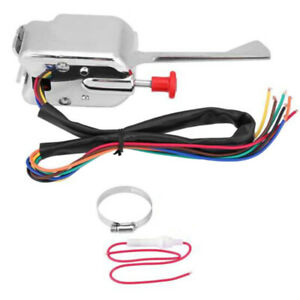 New Chrome 12v Universal Street Hot Rod Turn Signal Switch For Ford Buick Gm Us