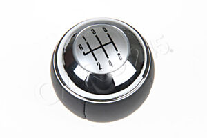 Genuine Mini Cooper R50 R52 Cabrio R53 Manual 6 Gear Shift Knob Leather Chrome