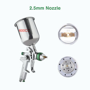 2 5 Mm Hvlp Gravity Spray Gun Kit With Auto Paint Primer Metal Flake