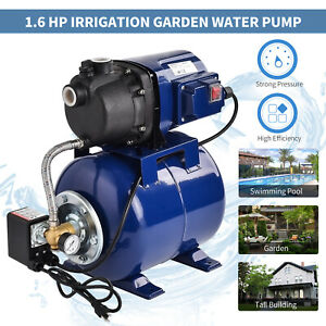 1 6 Hp Electric Shallow Well Pressurized Home Irrigation Garden Water Pump