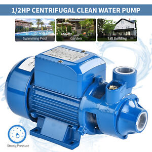 1 2hp Centrifugal Clear Clean Water Pump Electric Industrial Farm Pool Pond
