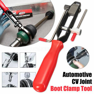 Car Cv Joint Boot Clamp Banding Crimper Steel Automotive Tool With Cutter Pliers