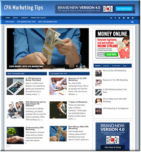 Cpa Marketing Turnkey Website Business Earn From Affiliate Adsense
